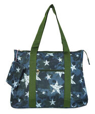 Jenzys Womens Teens Camo Stars  Large Shoulder Tote Bag for Travel Shopping Gym