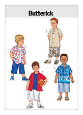 Butterick Sewing pattern 3475 Childs Boys 6-8 Easy Loose Fitting Shirt Shorts