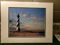 """Sunset @ Old Cape Hatteras by the Sea"" Signed Matted 8x10 Photo Emory Minnick"
