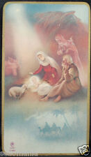OLD BLESSED SACRED FAMILY AND MAGI KINGS HOLY CARD ANDACHTSBILD SANTINI     C979