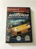 Need For Speed Hot Pursuit 2 Sony Playstation 2 PS2 COMPLETE (EA, 2002) TESTED