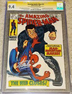 AMAZING SPIDER-MAN #73 (1969) CGC 9.4 SS Signed x2 Stan Lee & Romita!! KEY ISSUE