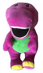 """26"""" Fisher Price Speak N Sing Barney Large Talking Singing Jumbo Plush Toy"""