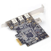 PCIe to 1394b FireWire Controller Card 3 external 1394b + 1 internal 1394a