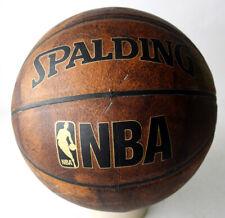 RARE SPALDING COMPOSITE LEATHER NBA BASKETBALL BALL SIZE 7 DARK BROWN NEW !