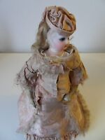 Antique Early French Fashion Doll All Original Clothes Full Outfit with Corset