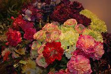 Multi Color New Silk Artificial Flowers & Greeneries Bulk Sale Closing Business