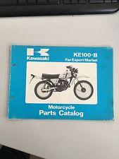 Kawasaki KM100 Motorcycle Parts Catalog Book
