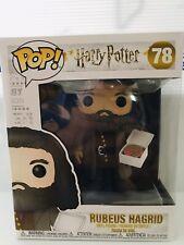 "Funko POP! Harry Potter #78 Rubeus Hagrid w/ Birthday Cake 6"" Super Sized Pop"