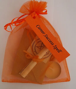 Career Job Interview Success Spell Kit  Votive Candle and Bath Magic Wicca
