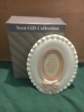***Avon Soft Bow Oval Picture Frame - NOS***