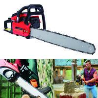 "52cc 22"" Bar Gas Powered Chain Saw 52cc 2 Cycle Tree Chainsaw Wood Cutting"