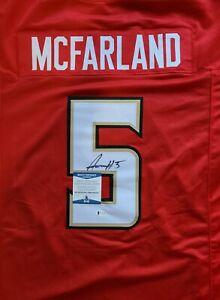 RARE Anthony McFarland Maryland Signed Auto XL Jersey BAS WITNESSED Beckett COA