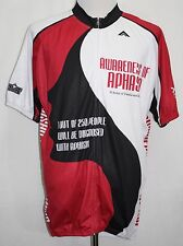 AWARENESS OF APHASIA Cycling Jersey Red & White 5XL PATRIOTS CROSSBOWS Ascend