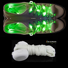 LED Shoe Laces Flash Light Up Green Glow Strap Flashing Shoelaces Party