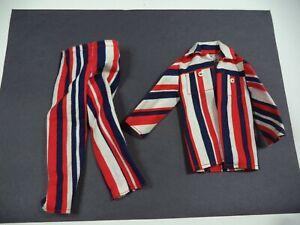 """Barbie """" KEN """" 1971 The Casual Scene #1472 Striped Jacket & Pants Pls Read Lot 2"""