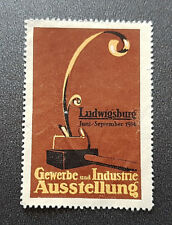 Cinderella Poster Stamp Gewerbe Industrie Ausstellung Ludwigsburg 1914 (7596)