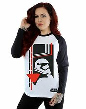 Star Wars Women's Force Awakens Phasma Long Sleeved Baseball Shirt - Small