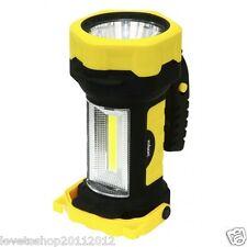 Rolson 2in1 3W Z2 Spot Light & COB Lantern 120 Lumens Multi Position Grip 61682