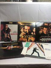 Laser Disc Set 007 James Bond Lot of 5 Discs Octopussy Goldeneye & More