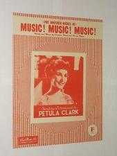 PETULA CLARK (Mettre un autre Nickel in) Musique! Musique! Musique! Musique en feuille.