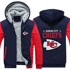 Kansas City Chiefs Football Hoodies Thicken Warm Sweatshirts Fleece Jacket Coat