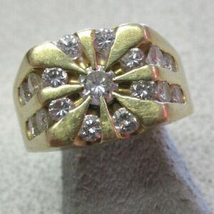 Stunning Estate Men's 1.75 ctw Diamond Ring 14k Gold Size 9.5 SI1-2 G MAKE OFFER