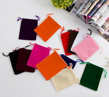 Multi color Velvet Pouches Drawstring Jewelry Wedding Favors Packing Gift Bags
