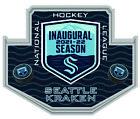 SEATTLE KRAKEN INAUGURAL SEASON SOUVENIR PIN NHL HOCKEY LAPEL STYLE 2021-2022