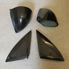 Black Manual DTM Style Mirrors & Base Plates To Fit Vauxhall Corsa C 2001 - 2006