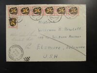 Germany French Zone 1946 Cover to USA / Damaged Back - Z6565