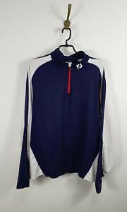 FootJoy Athletic Fit Long Sleeve 1/4 Zip Golf Pullover Dark Blue Men Size: L