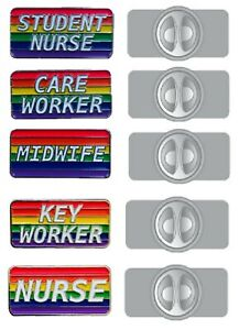 Rainbow Health Care Worker Brooch Lapel Pin Badge - Great For NHS Staff