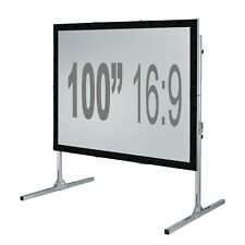 "100"" Fast Fold Projection Screen Front and Rear 16 9 HD Fastfold Fixed/framed"