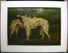 G DE SWERTSCHKOFF lévriers de chasse Jagd Windhunde 1925 HSP greyhounds paint