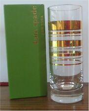 "NEW ~ KATE SPADE NEW YORK LENOX CRYSTAL CYLINDER 10 "" VASE ~ HAMPTON STREET GOLD"