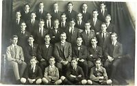 .RARE 1918 REAL PHOTO POSTCARD IPSWICH GRAMMAR SCHOOL, HOUSE PHOTO. J A HUNT