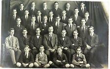 RARE 1918 REAL PHOTO POSTCARD IPSWICH GRAMMAR SCHOOL, HOUSE PHOTO. J A HUNT