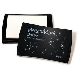 Tsukineko VERSAMARK Clear Heat Hot Embossing Watermark Dazzle Frost  Ink Pad