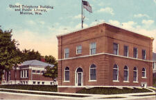 UNITED TELEPHONE BUILDING and PUBLIC LIBRARY, MONROE, WI. 1922