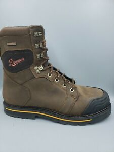 "Danner Trakwelt Men's 8"" Brown Leather Waterproof EH Boots Size US 13"