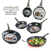 Ceramic Frying Pan Non Stick Pewter Saucepan Stainless Steel Aluminium Induction