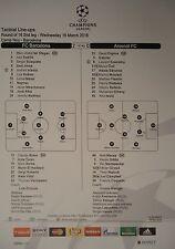 Line-ups uefa cl 2015/16 fc barcelona-arsenal fc