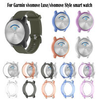 1xSoft Watch Protector Cover for Garmin vivomove Luxe/vivomove Style Smart Watch