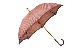 MARIO TALARICO NAPOLI Branded Rust Canopy Handmade Umbrella ELM Tree Handle
