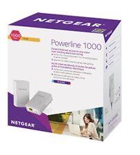 Netgear PL1000 AV1000 Gigabit PowerLine Ethernet Network Adapter Range Extender