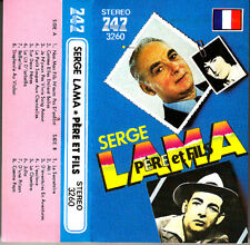 "K 7 AUDIO (TAPE)  SERGE LAMA ""PERE ET FILS"" (MADE IN JAPAN)"