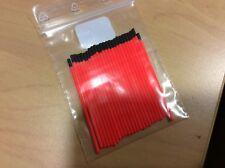 25 antennes rouge diamètre 1,7/ 1mm pour  flotteurs de pêche longueur :55mm