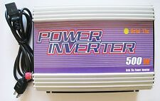 500 Watt Grid Tie Power Inverter 12V DC to 110V/120V AC Solar Panel Transverter