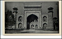 Vintage Postcard Indien India Gateway TAJ MAHAL AGRA